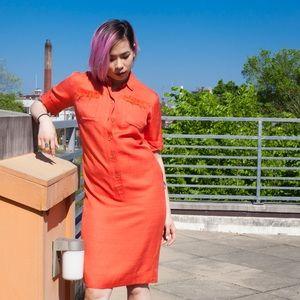 Dresses & Skirts - 60's Vintage Mod Twiggy Style Shirt Dress Sz Sm